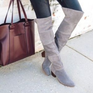 SOLE SOCIETY Melbourne Suede Over The Knee Boots